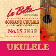 LaBella Ukulele Strings No. 15 Soprano Black Nylon (U15)