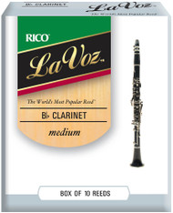 La Voz Bb Clarinet Reeds Medium 10-pack