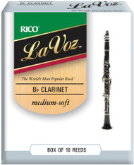 La Voz Bb Clarinet Reeds Medium-Soft 10-pack