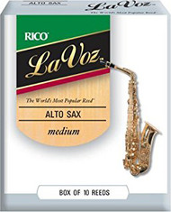 La Voz Alto Sax Reeds Medium 10-pack