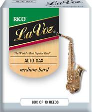 La Voz Alto Sax Reeds Medium-Hard 10-pack