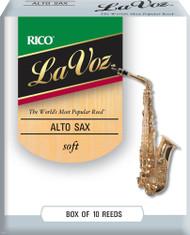 La Voz Alto Sax Reeds Soft 10-pack