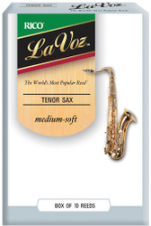 La Voz Tenor Sax Reeds Medium-Soft 10-pack