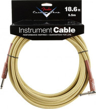 18.6' Fender Performance Series Right Angle Instrument Cable - Tweed (099-0820-031)