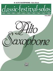 Classic Festival Solos (E-Flat Alto Saxophone), Volume 2 Solo Book