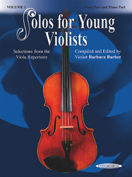 Solos For Young Violists Viola Part And Piano Acc., Volume 1 Selections From The Viola Repertoire