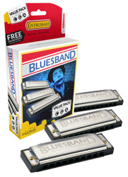 Hohner 3P1501BX Bluesband Harmonica, Pro Pack, Keys of C, G, and A Majo