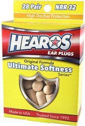 Hearos NRR 32 db Ultimate Softness 28 Pair (5225) Packaging