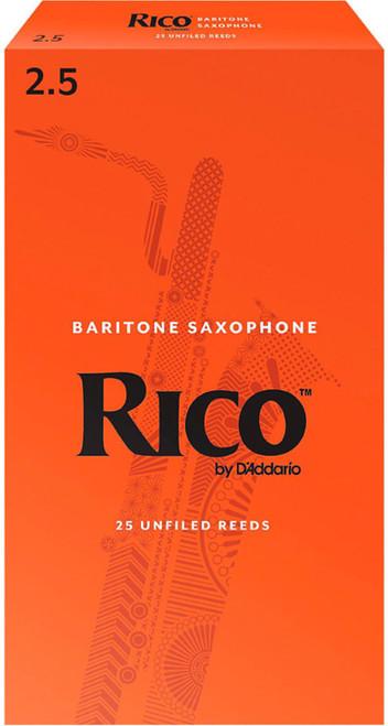 Rico Baritone Sax Reeds 25-Pack #2.5 (8A2.5)