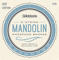 D'Addario EJ73 Phosphor Bronze Light Mandolin Strings (10-38