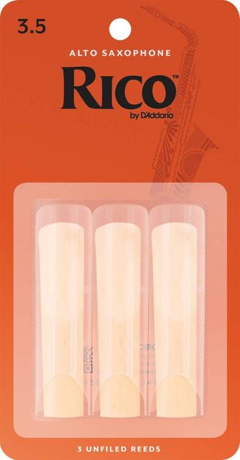 Rico Alto Sax Reeds, Strength 3.5, 3-pack (RJA0335)