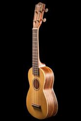Ohana Soprano Ukulele Solid Spruce and Zebrawood (SK22Z)