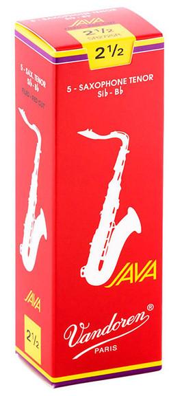 Vandoren Tenor Sax Java Red Reeds 5-Pack 2.5 (SR2725R)