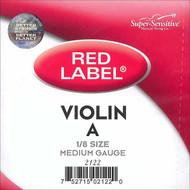 Super Sensitive Red Label 2122 Violin A String 1/8 (SS212*O1/8)