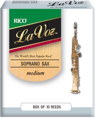 La Voz Soprano Sax Reeds Medium 10-pack