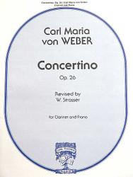 Concertino, Opus 26, Clarinet Solo, Piano