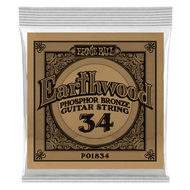 Single Ernie Ball Earthwood Phosphor Bronze Acoustic Guitar .034 (B1834) Packaging Front