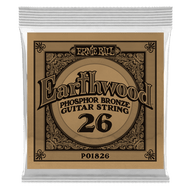 Single Ernie Ball Earthwood Phosphor Bronze Acoustic Guitar .026 (B1826) Packing Front
