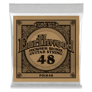 Single Ernie Ball Earthwood Phosphor Bronze Acoustic Guitar .048 (B1848) Packaging Front