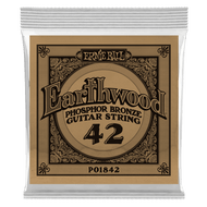 Single Ernie Ball Earthwood Phosphor Bronze Acoustic Guitar .042 (B1842) Packaging front