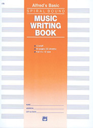 12 Stave Music Writing Book: Spiral-Bound Book