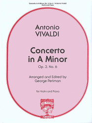 Concerto In A Minor, Opus 3, No. 6, Violin Solo, Piano