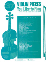 37 Violin Pieces You Like To Play, Violin And Piano, Book Only