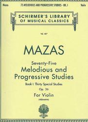 75 Melodious And Progressive Studies, Op. 36 - Book 1, Violin Method