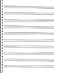 74. Spiral Book: 10-Stave, Passantino Manuscript Paper