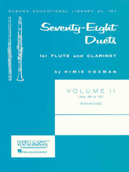 78 Duets For Flute And Clarinet, Volume 2 - Advanced (Nos. 56-78)