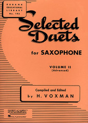 Selected Duets For Saxophone, Volume 2 - Advanced