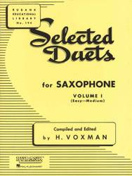 Selected Duets For Saxophone, Volume 1 - Easy To Medium