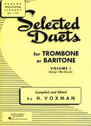 Selected Duets For Trombone Or Baritone, Volume 1 - Easy To Medium