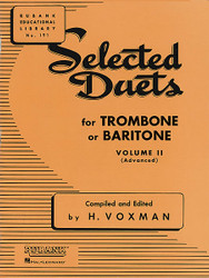 Selected Duets For Trombone Or Baritone, Volume 2 - Medium-Advanced