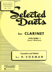 Selected Duets For Clarinet, Volume 1 - Easy To Medium
