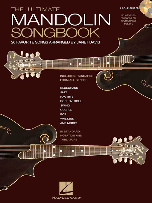 The Ultimate Mandolin Songbook, 26 Favorite Songs Arranged By Janet Davis, Book/2-Cd Pack