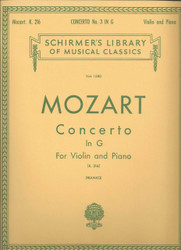 Concerto No. 3 In G, K.216, Score And Parts