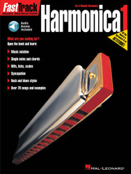 Fasttrack Harmonica Method - Book 1, For Diatonic Harmonica, Book/Cd Pack