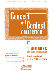 Concert And Contest Collection, Trombone - Piano Accompaniment, Trombone - Piano Part