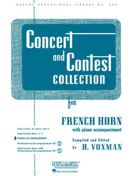 Concert And Contest Collection, French Horn - Piano Accompaniment, French Horn - Piano Part