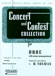 Concert And Contest Collection, Oboe - Piano Accompaniment, Oboe - Piano Part