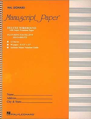 Deluxe Wirebound Super Premium Manuscript Paper (Gold Cover)