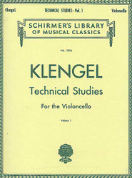 Julius Klengel: Technical Studies For The Violoncello, Volume 1, Cello Method