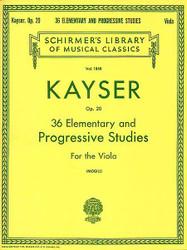 36 Elementary And Progressive Studies, Viola Method