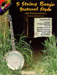 5 String Banjo Natural Style No Preservatives