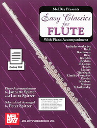 Easy Classics for Flute - with Piano Accompaniment (Book + Online PDF Supplement)