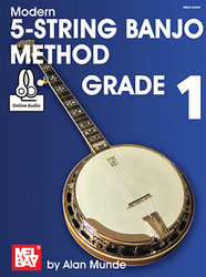Modern 5-String Banjo Method Grade 1 (Book + Online Audio)
