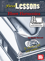 First Lessons Blues Harmonica (Book + Online Audio/Video)