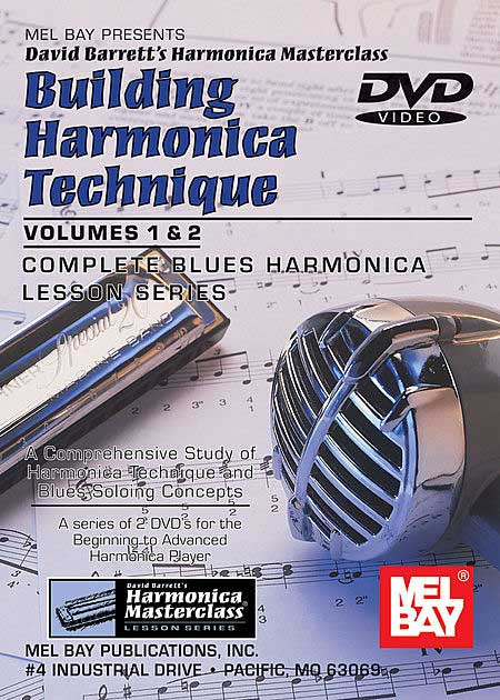 Building Harmonica Technique Volume 1 & 2 Dvd Taught By David Barrett - Blues - Harmonica Masterclass Lesson - Harmonica (Diatonic)