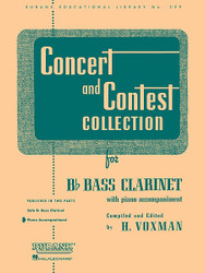 Concert And Contest Collections, Bb Bass Clarinet - Piano Accompaniment, Bb Bass Clarinet - Piano Part